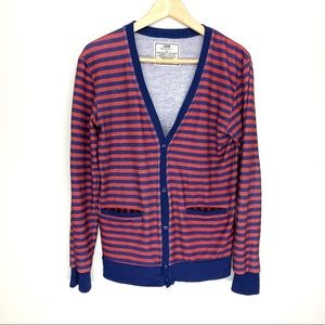 Chor Striped Cardigan With Pockets Size S
